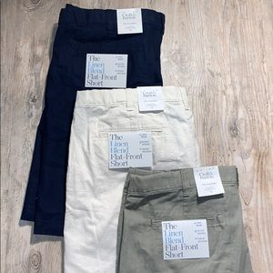 3 Pair Croft & Barrow Linen Blend Shorts